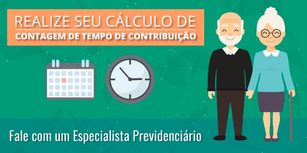 Realize seu Cálculo de Contagem de Tempo de Contribuição.