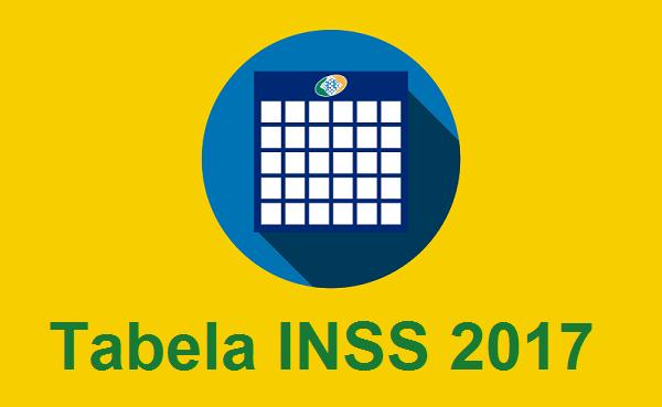 Tabela de Pagamento do Benefício do INSS de 2017.
